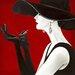 "DEInternationalGraphics Acrylglasbild ""Haute Chapeau Rouge II"" von Marco Fabiano, Kunstdruck"