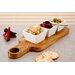 Harch Wood Couture 4 Piece Paddle Mezze Tray Set