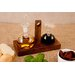 Harch Wood Couture 3 Piece Oil and Vinegar Set