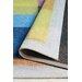 Löffler Handgetufteter Teppich Blaues Quadrat in Bunt