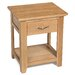Hallowood Furniture Camberley 1 Drawer Bedside Table