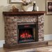 ClassicFlame Stacked Stone Infrared Electric Fireplace