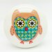 G Decor Flower Owl Door Knob