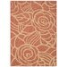 Courtyard Rust/Sand Floral Outdoor Rug