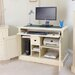Baumhaus Cadence Armoire Desk with Keyboard Tray