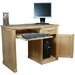 Baumhaus Mobel Computer Desk with Keyboard Tray