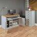 Baumhaus Chadwick Credenza Desk with Keyboard Tray