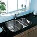 Vigo 30 inch Undermount 70/30 Double Bowl 18 Gauge Stainless Steel Kitchen Sink