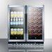 Summit Appliance 33 Bottle Dual Zone Convertible Wine Refrigerator