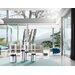 Blomus Faro 3 Piece Stainless Steel & Glass Hurricane Set