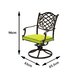 Cozy Bay Casa Swivel Dining Arm Chair with Cushion