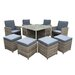 Cozy Bay Provence 9 Piece Upholstered Chair Set