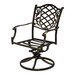 Cozy Bay Casa Swivel Dining Arm Chair