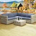 Cozy Bay Hampton 5 Seater Sectional Sofa Set with Cushions
