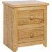 Home Essence Hamilton 2 Drawer Bedside Table