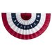 Independence Bunting and Flag Corp Pleated Fan with Stars Flag