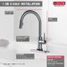Delta Trinsic® Single Handle Deck Mounted Kitchen Faucet
