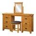 Heartlands Furniture Acorn Solid Oak Dressing Table Stool