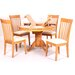 Heartlands Furniture Solid Rubberwood Upholstered Dining Chair