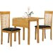 Heartlands Furniture Atlas Extendable Dining Table and 2 Chairs