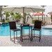 AZ Patio Heaters Wicker 3 Piece Bar Set