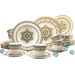 Creatable Majestosa 30 Piece Porcelain Dinnerware Set