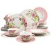 Creatable Amelia Rose 30 Piece Dinnerware Set
