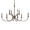 Capital Lighting Alexander 10 Light Candle Chandelier