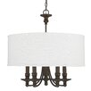 Capital Lighting Midtown 5 Light Chandelier in Burnished Bronze