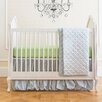 Summer Infant Garden Gray Classic 4 Piece Crib Bedding Set