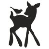 Alphabet Garden Designs Forest Critter Deer and Bird Chalkboard Wall Decal