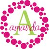 Alphabet Garden Designs Personalized Amanda's Dots Wall Decal