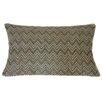 Jiti Zigs Hand Block Printed Embroidered Linen Lumbar Pillow