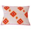 Jiti Kora Jute Hand Block Printed Embroidered Linen Lumbar Pillow