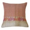 Jiti Paisley Hand Block Printed Embroidered Linen Throw Pillow