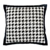 Jiti Houndstooth Cotton Throw Pillow