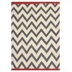 Jiti Zig Zag Grey/White Outdoor Area Rug