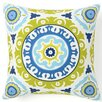 Jiti Suzani Henna Silk Throw Pillow