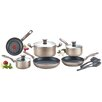 T-fal Metallic Bronze 12 Piece Cookware Set