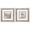 Propac Images Herring Cove 2 Piece Framed Photographic Print Set