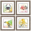 Propac Images Under The Sea 4 Piece Framed Painting Print Set