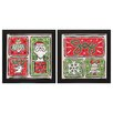 Propac Images Noel Santa 2 Piece Framed Graphic Art Set