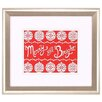 Propac Images Fair Isle Snowflake II Framed Textual Art