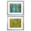Propac Images Three Palms 2 Piece Framed Painting Print Set