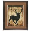 Propac Images Deer Silhouette Framed Painting Print