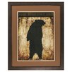 Propac Images Bear Silhouette Framed Painting Print
