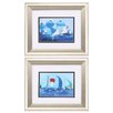 Propac Images Running Chutes 2 Piece Framed Painting Print Set