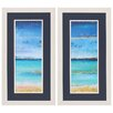 Propac Images Seashore 2 Piece Framed Painting Print Set