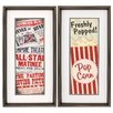 Propac Images Matinee Popcorn 2 Piece Framed Textual Art Set