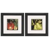 Propac Images Apple and Pear 2 Piece Framed Graphic Art Set